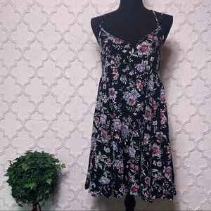 American Eagle Floral Tiered Babydoll Dress